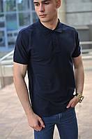 Темно-синяя мужская футболка поло / купить рубашку поло, фото 1