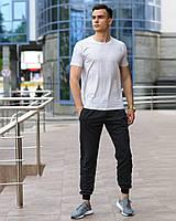 Мужской комплект - темно-серые спортивные штаны и светло-серая футболка (весна/лето/осень), фото 1