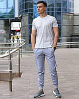 Мужской комплект - серые спортивные штаны и светло-серая футболка (весна/лето/осень), фото 1