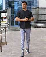 Мужской комплект - серые спортивные штаны и темно-серая футболка (весна/лето/осень), фото 1