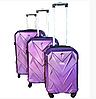 Комплект из 3-х дорожных чемоданов с кодовым замком в разных цветах, фото 7