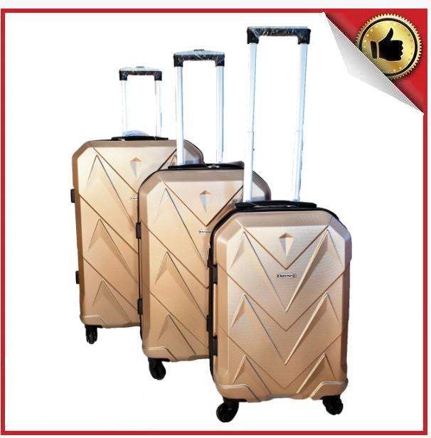 Комплект из 3-х дорожных чемоданов с кодовым замком в разных цветах