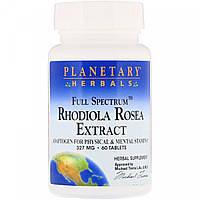 Planetary Herbals, родиола (60 таб.), родіола, rhodiola rosea