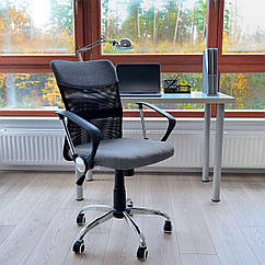 Офисное кресло Vecotti вращающийся тканевый Серый