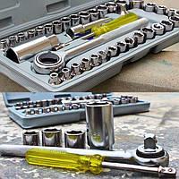 Универсальный набор ручных инструментов AIWA 40 шт ед в 1 торцевых головок ключей Ключи в машину для дома авто