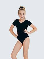 Купальник с коротким рукавом для танцев SMIL черный 123013/123014/123015