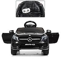 Электромобиль детский Mercedes EVA колеса M 3995EBLR-2 черный, фото 1