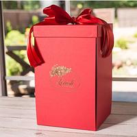 Подарочная коробка для розы в колбе Lerosh - 43 см, Красная SKL15-138977