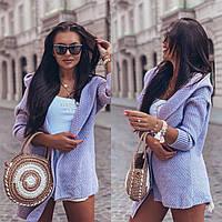 Кардиган женский стильный с капюшоном вязаный в модных цветах Pol213