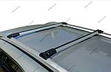 """Багажник на рейлінги """"Стелс""""  алюміній. Установка між рейлінгами, 130см + замки, фото 4"""