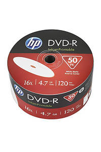 Диск DVD-R НР (69302) 4.7GB 16x IJ Print, без шпинделя, 50 шт