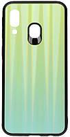 Чехол-накладка TOTO Aurora Print Glass Case Samsung Galaxy A40 Green 95898, КОД: 1295423