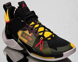 Кроссовки Air Jordan Why Not Zer0.2 SE Black Yellow Green. Оригинал (ар. AQ3562 002)