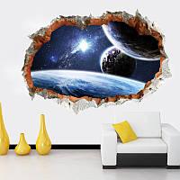 """Детская интерьерная виниловая наклейка на стену """"Галактика. Планеты 3 Д"""""""