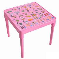 Стол детский Азбука английская Розовый, КОД: 1128916
