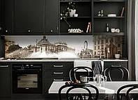 Кухонный фартук Ретро фото города самоклеющаяся пленка наклейка на кухню скинали на стену Серый 600*3000 мм, фото 1