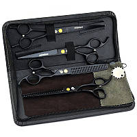 Univinlions7 дюймов набор профессиональных ножниц 4 шт. для стрижки домашних животных ножницы для груминга