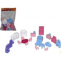 Меблі для ляльок №5 (21 элемент в пакете) 17 5*13 5*3см ТМ POLESIE