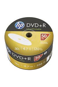 Диск HP DVD+R 4,7 GB 16x Full Surface Inkjet Printable white Shrink/50