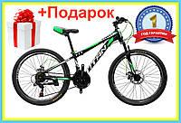 """Горный велосипед TITAN Street 26"""" рама 17 черный-зеленый спортивный велосипед MTB"""