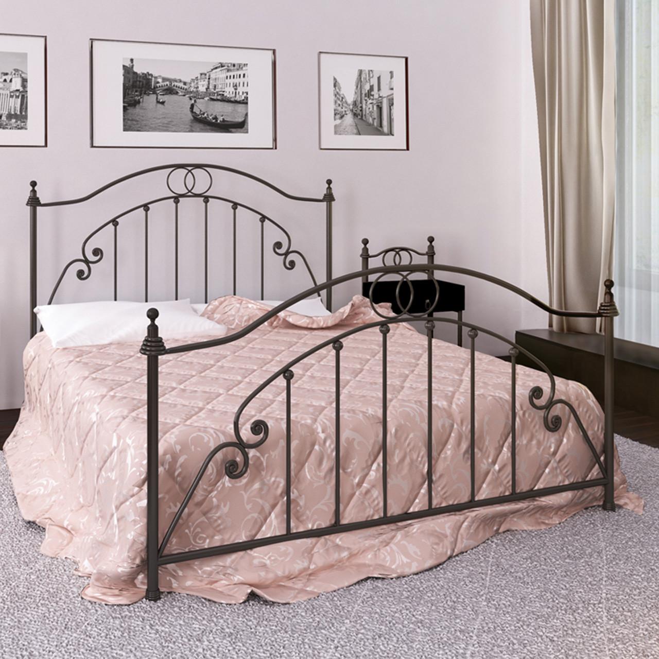 Кровать металлическая двуспальная Флоренция