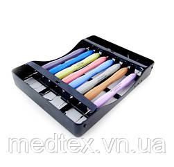 LM-ARTE, LM-ERGOMAX набор реставрационных гладилок, штопфер с кассетой на 8 инструментов (Оригинал)