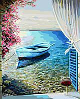 Картина по номерам Лодка у лоджии, Brushme 40х50 (GX24698)