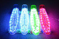 Пенни борд 850 прозрачный с LED подсветкой, светящиеся колеса, фото 1