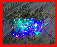 Гирлянда Нить Конус-рис LED 100 мульти, прозрачный провод № 2