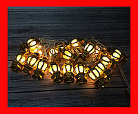 Гирлянда Уличный фонарь Золото LED 20 №8