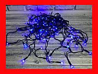 Новорічна гірлянда вулична Бахрома LED 480 синій, чорний провід