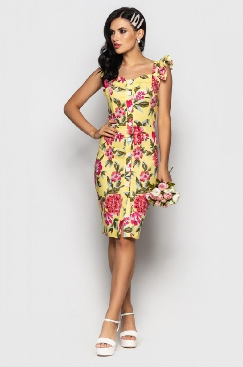Женское элегантное платье-футляр из структурного хлопка
