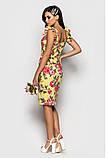 Женское элегантное платье-футляр из структурного хлопка, фото 2