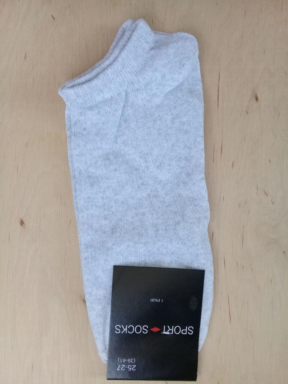 Носки мужские ультра  короткие  стрейчевые Житомир размер 25-27(39-42) светло серые