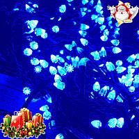 """Новогодняя гирлянда-нить """"Конус"""" 600 Led 25 м (черный провод, синий), фото 1"""