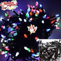 """Новогодняя гирлянда-нить """"Конус"""" 300 Led 15 м (черный провод, мульти), фото 1"""