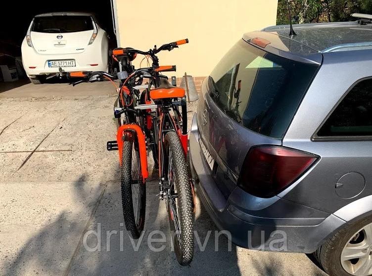 Кріплення для перевезення 2 велосипедів. На фаркоп.