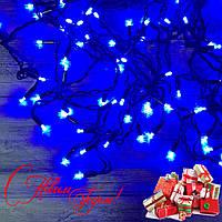 Новогодняя гирлянда Бахрома 96 Led 3.5 м (черный провод, синий), фото 1