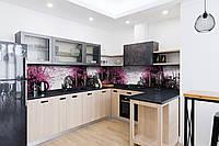 Скинали на кухню Zatarga Лодки 600х2500 мм розовый виниловая 3Д наклейка кухонный фартук самоклеящаяся