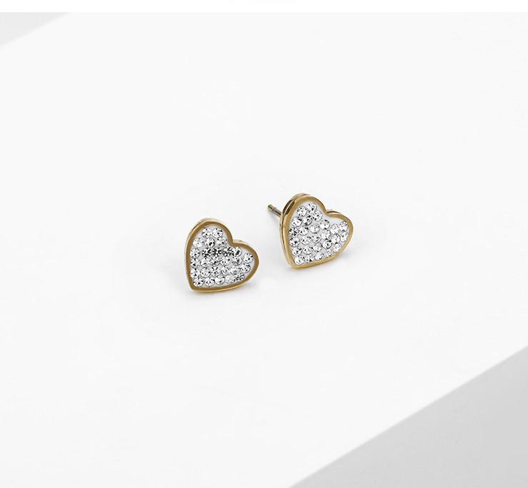 "Сережки - гвоздики ""Gold Heart"", з медичного золота"