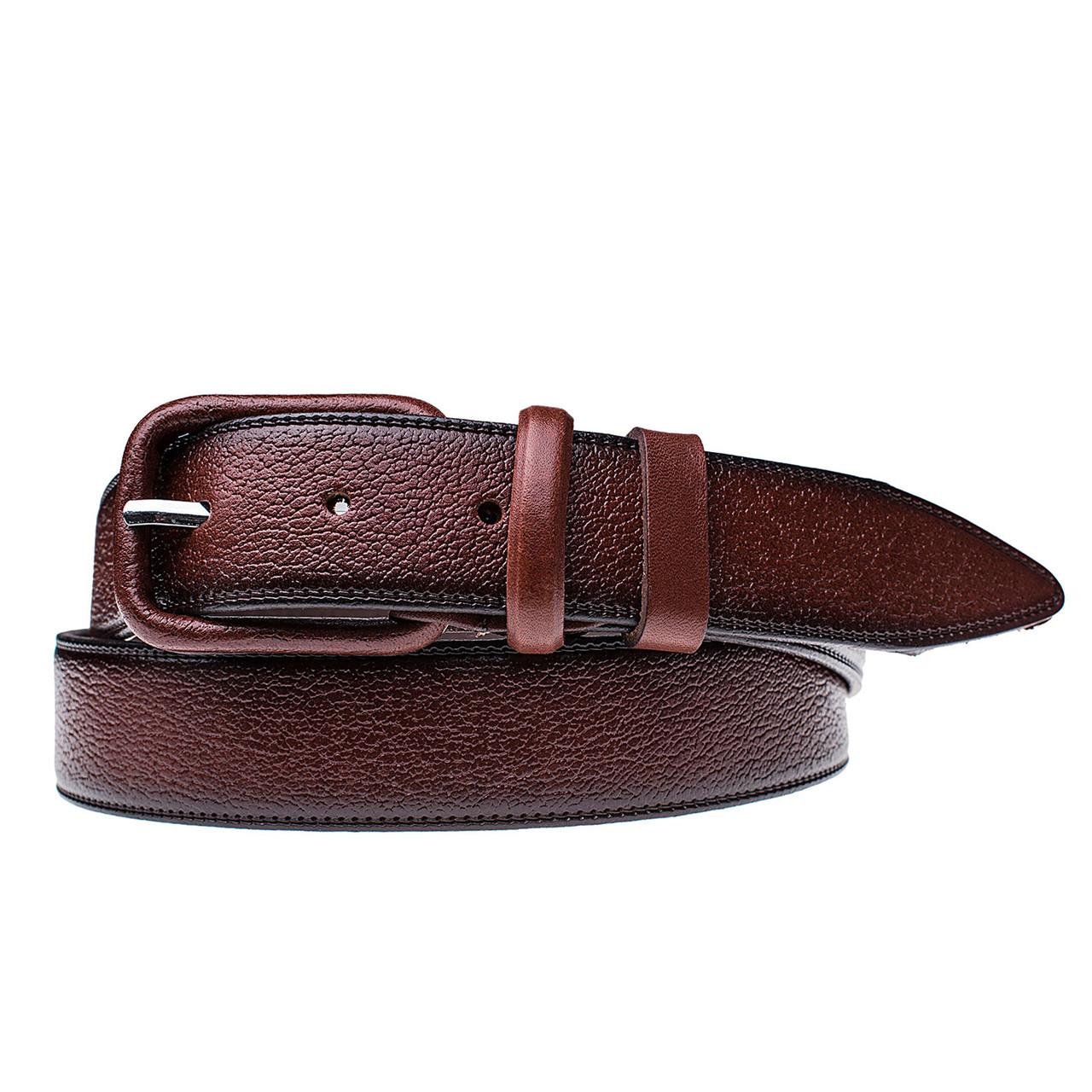 Мужской кожаный ремень JK Черный (HC351090101)