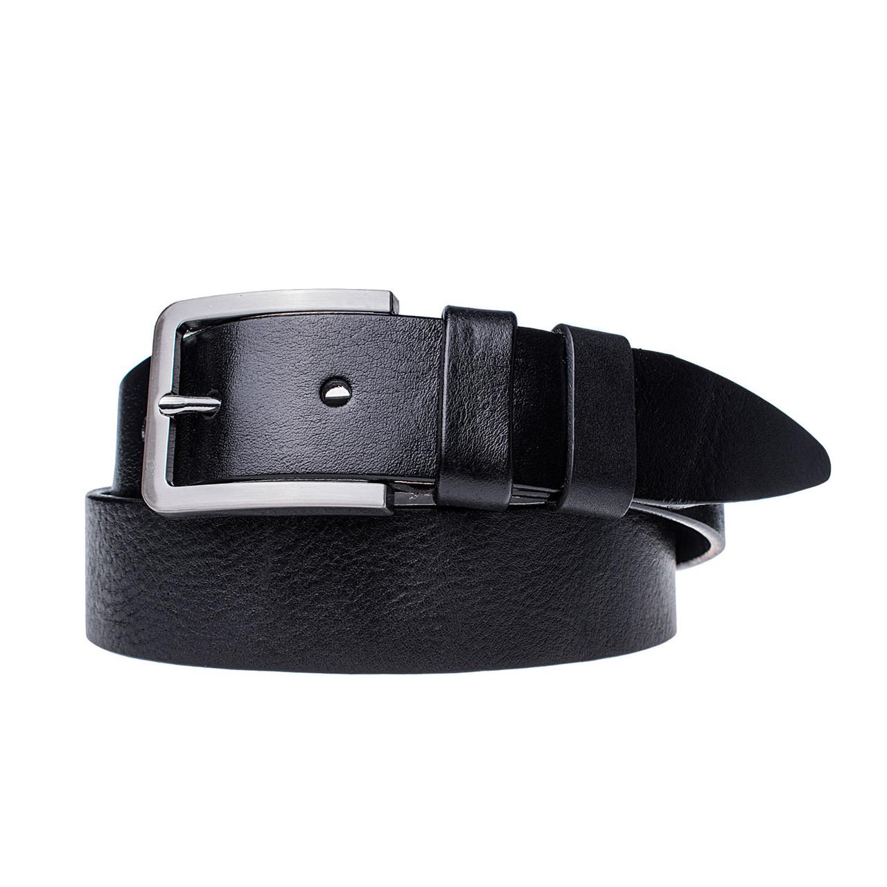 Мужской кожаный ремень JK Черный (MC402010125)