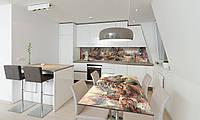 Наклейка на стол Zatarga «Домики» 650х1200мм для домов, квартир, столов, кофейн, кафе