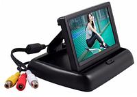 """Автомобильный монитор TFT 4.3"""" дюйма для парковки  (на две камеры)  складной, фото 1"""