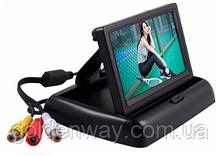 """Автомобильный монитор TFT 4.3"""" дюйма для парковки  (на две камеры)  складной"""