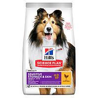 Сухой корм Hills SP Adult Sensitive Stomach & Skin Medium Chicken 14 кг (604385)