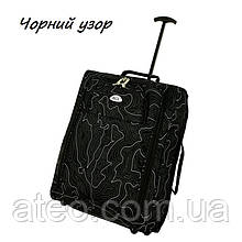 Сумка-рюкзак на колесах(55см*40см*20см) чорний візерунок