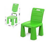 Стілець табурет Долони зеленый Пластиковый стул детский. pro