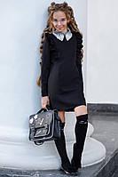 Нарядное школьное платье черное, фото 1