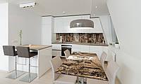 Наклейка на стол Zatarga «Улочка» 650х1200мм для домов, квартир, столов, кофейн, кафе